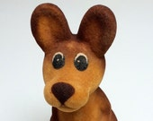 Vintage toy KANGAROO from USSR, 70s