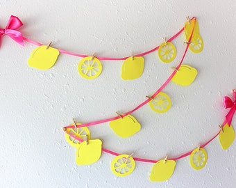 Pink Lemonade Party.  Ships in 1-3 business days.  Lemonade Stand Garland.