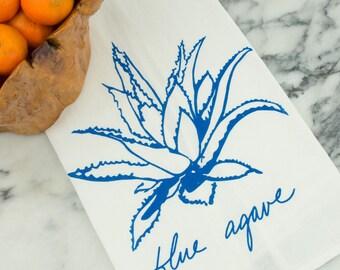 Blue Agave Succulent Tea Towel