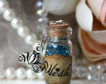 Wish Glass Vial Potion Necklace