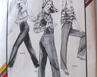 Stretch and Sew 716 Sewing Pattern - Designer Jeans for Hip Sizes 30 - 46, Uncut