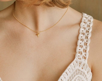 Gold Shark Tooth, Tooth Necklace, Tiny, Petite, 14K Gold Filled, Beach Jewelry, White Gold, Layering Necklace