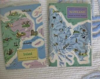 The American Geographical Society's Around the World Program Booklets - Scotland and Ireland
