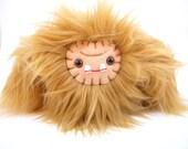 Plush sasquatch monster Dommy toy tan brown stuffed animal yeti ugly cute kawaii winter softie big foot ape beast plushie geek small toy