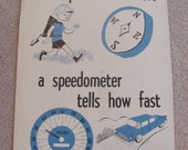 """Vintage Illustrated Large Flash Card Chart Poster -- 11"""" x 14"""" Speedometer"""