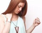 TRIA leather necklace