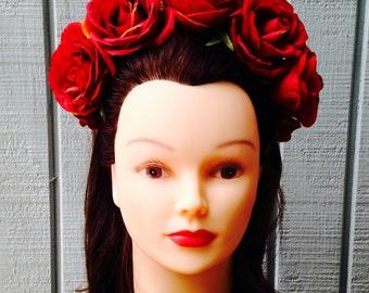 Romantic Red Rose Headband