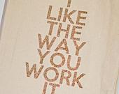 I Like the Way You Work It - Glitter Tote Bag