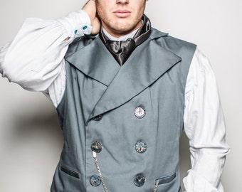 Steampunk Victorian Western Vest Men's Vest Tom Sawyer