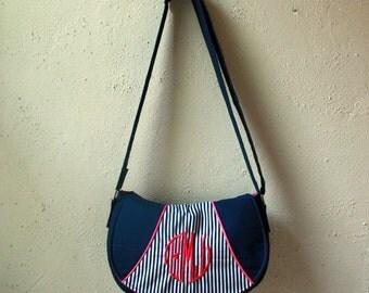 Saddle Bag - Rosie Crossbody Bag with Monogram