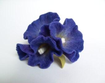 Felt Flower, Brooch
