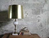 Vintage Brass, Glass and Marble Lamp Base