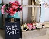 Felt flower box