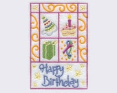 Birthday Square Tea Towel | Personalized Kitchen Towel | Embroidered Kitchen Towel | Embroidered Tea Towel | Hand Towel | Personalized