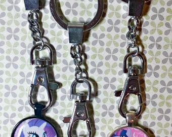 Handmade My Little Pony Keychains Friendship is Magic