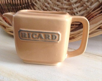 Vintage French Richard Pitcher,  Collectible French Bistro, France. Milk, Pastis, Anisette, Bistrot, French Cafe, Brasserie,