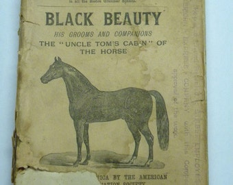 "C 1892 Reprint of ""Black Beauty"" by Anna Sewell - Limited edition of 2400"