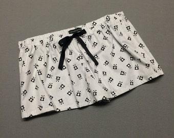 Panda - Womens Mini Sleep Shorts