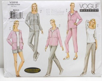 Vogue Wardrobe Pattern V2816, Plus Size Jogging Suit Pattern, Womens Fashion, Sewing Supplies