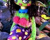 Queen Venilia - Handmade Cloth Doll - OOAK
