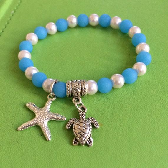 how to make a sea glass bracelet