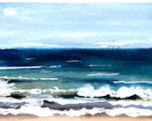 Surf print of watercolor by Mary Blocksma 8x10 Mat