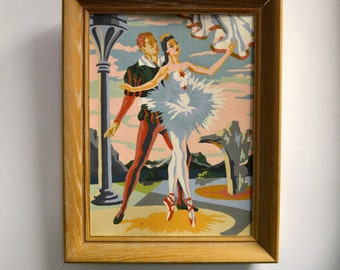 1960s Ballet Dancers Paint By Numbers Painting