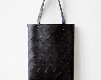 Xmas in July SALE Black Tote bag No.Tw- 202 geometric pattern