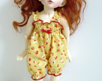 LTF/LittleFee/Yo-SD BJD Yellow & Red Floral Sunsuit
