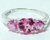 Lab Created Pink Sapphire (Center Hrt 1.60 Ct)