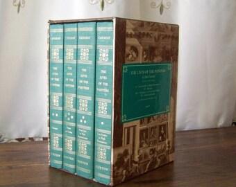 Vintage Lives of the Painters John Canaday 1969 Four Volume Set Art Renaissance Gothic Baroque Neoclassic Homeschool