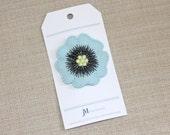 Light Blue Poppy wool Hair clip for girls