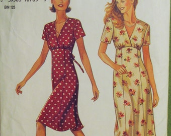 1990's New Look Pattern 6478 Misses Dress Six Sizes In One, Sizes 6-16