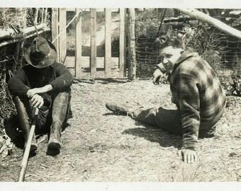 "Vintage Photo ""Bummed Out Bobby"" Men Snapshot Photo Old Antique Photo Black & White Photograph Found Photo Paper Ephemera Vernacular - 02"