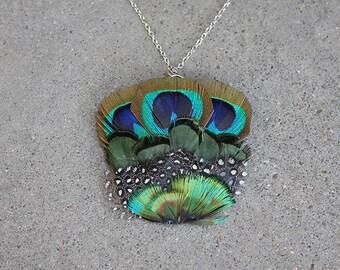 SALE - Melange Feather Necklace