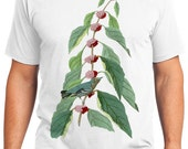 Blue-green Warbler Bird Retro Men & Ladies T-shirt - Gift for Bird Lovers and Ornithologist (idc049)