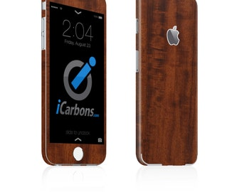 iCarbons Dark Wood iPhone 6 / 6 Plus / 6S / 6S Plus Skin Decal FULL COMBO