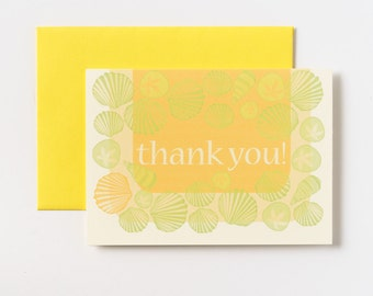 Seashell Thank You Greeting Cards - Set of 5