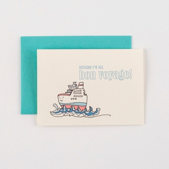 Tugboat Bon Voyage Greeting Card