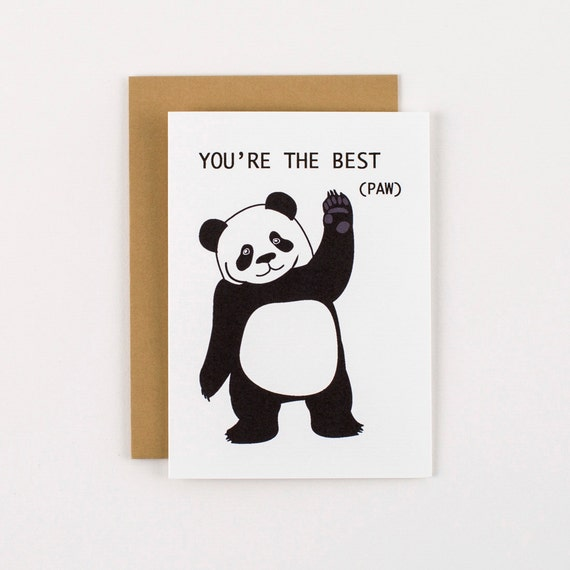 Panda You're the Best Paw Greeting Card