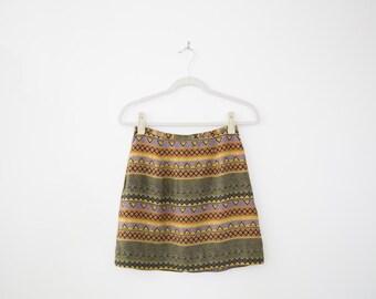 Tribal Print Mini Skirt