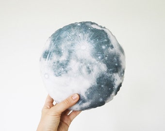 MOON cushion - cute lunar decorative pillow, perfect for baby's nursery