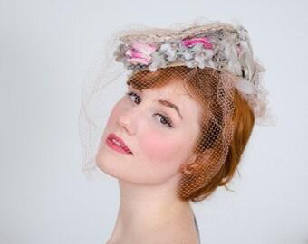 1930s vintage hat / tilt hat / Eugenie