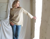Private Listing for Angela - KHAKI Straight Sleeve Tunic Sweater in Boiled Wool - Loose Oversize - Made to Order