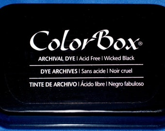 Black Ink Pad Color Box Archival Dye Inkpad Black Permanent Ink Pad for Your Personalized Stamp Made in the USA Stamp Ink