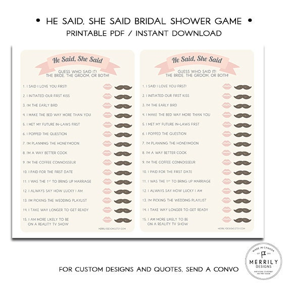 Smart image with regard to he said she said bridal shower game free printable