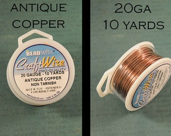 20ga Antique Copper Craft Wire - Non Tarnish - from Bead Smith - 10 Yards