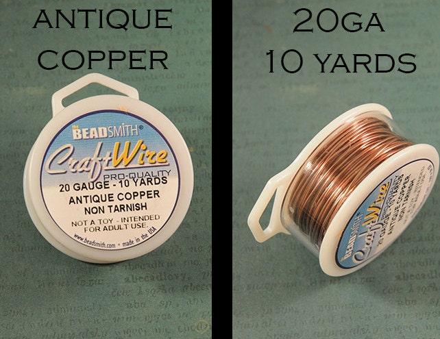 Antique copper craft wire 20 gauge non tarnish for Beadsmith craft wire 16 gauge