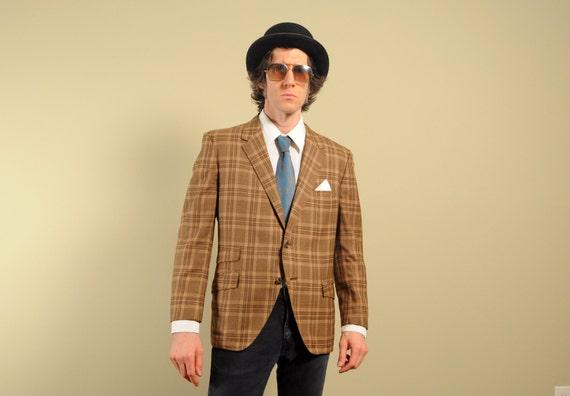 mens vintage sport jacket 60s plaid sport by CarnivalOfTheManiac