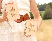 Rustic Wedding Vow Notebooks His Vows Book Her Vows Book Wood Vow Book Set His and Her Vows Notebook Set Bridal Shower Gift Rustic Wedding